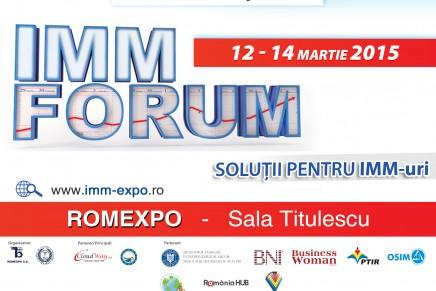 Invitatie: IMM Forum 2015