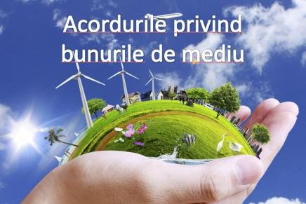 Noutati privind viitorul acord al bunurilor de mediu