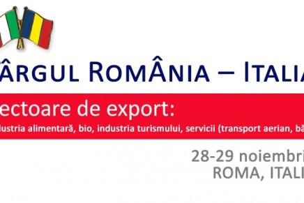 Targul Romania – Italia organizat la Roma