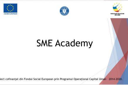 """Lansarea proiectului """"SME Academy"""""""
