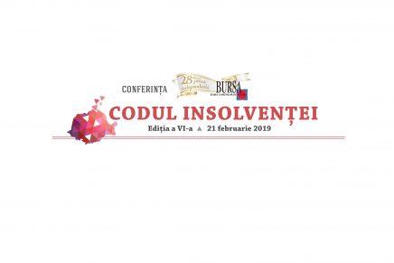 "Conferinta ""CODUL INSOLVENTEI"" editia a VI-a"