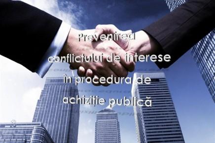 Mecanism de prevenire a conflictului de interese in procedura de achizitie publica