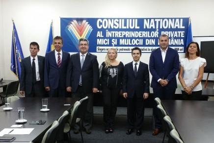 Întalnirea presedintelui CNIPMMR, cu Excelenta Sa dl. Osman Koray Ertas, ambasadorul Republicii Turcia in Romania