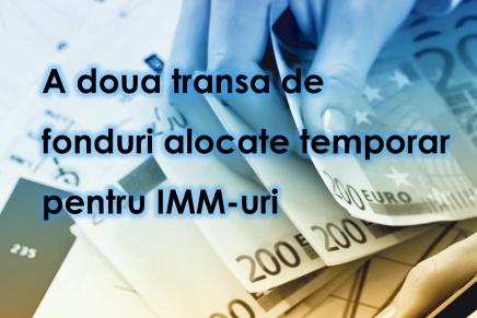 A doua transa de fonduri alocate temporar pentru IMM-uri