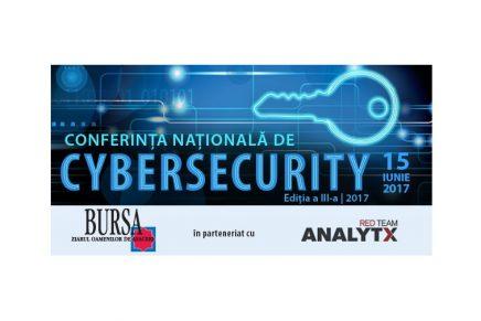 A-III-a editie a Conferintei Nationale de Cybersecurity, organizata de ziarul Bursa