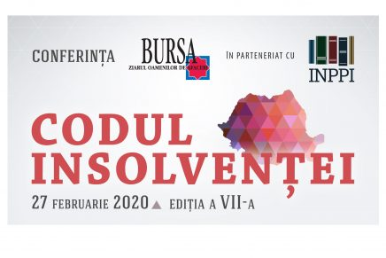 Bursa organizeaza conferinta CODUL INSOLVENTEI – Editia a VII-a