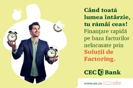 CEC Bank iti ofera un produs care-ti permite sa incasezi in avans facturile