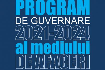 Programul de Guvernare al mediului de afaceri 2021 – 2024